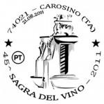 annullo filatelico 45 sagra del vino carosino